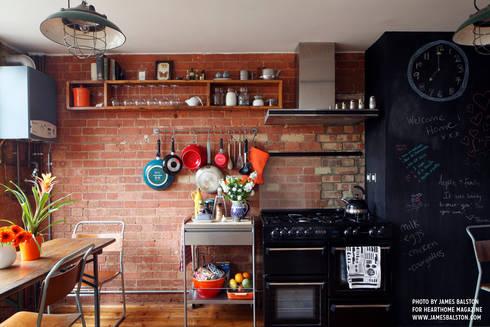 Dining: industrial Kitchen by Cassidy Hughes Interior Design