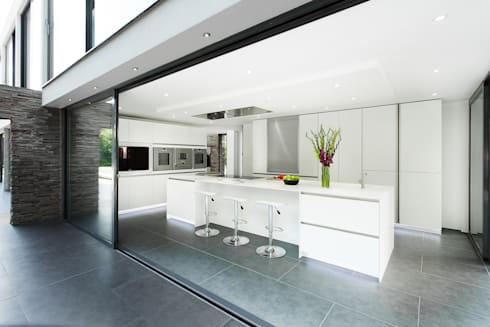 Synergy of Light and Space: modern Kitchen by The Myers Touch