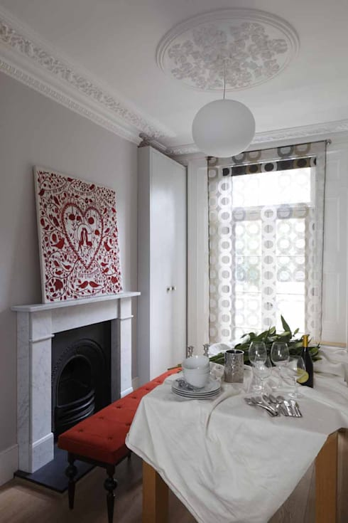 Chalcot Crescent:  Dining room by Living in Space