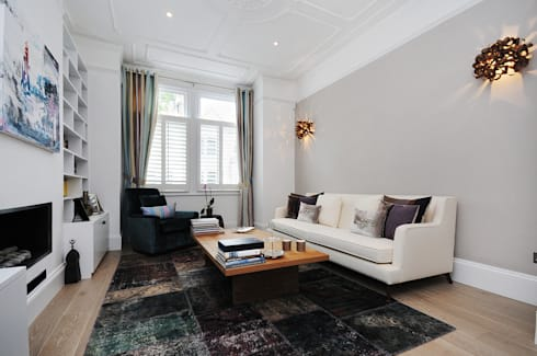 Fulham 2: modern Living room by MDSX Contractors Ltd
