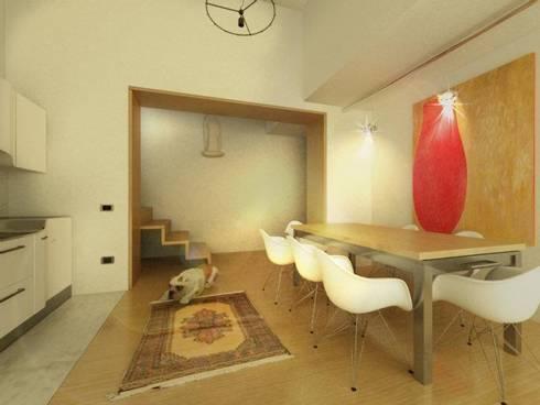 casa di campagna: Sala da pranzo in stile in stile Moderno di maurococco.it