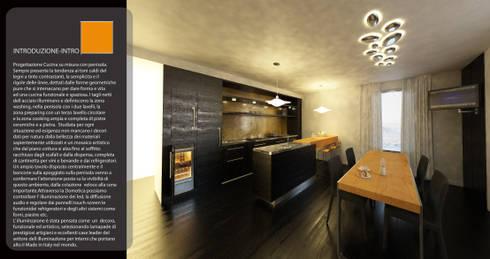 Sala da Pranzo e kitchen: Sala da pranzo in stile in stile Moderno di maurococco.it