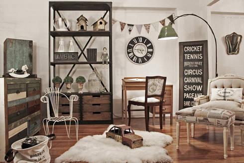 Playroom Vintage: Habitaciones para adolescentes de estilo  por Estación Ortiz