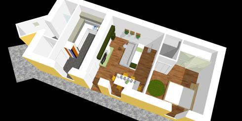 render di progetto:  in stile  di Serena Barison Architetto