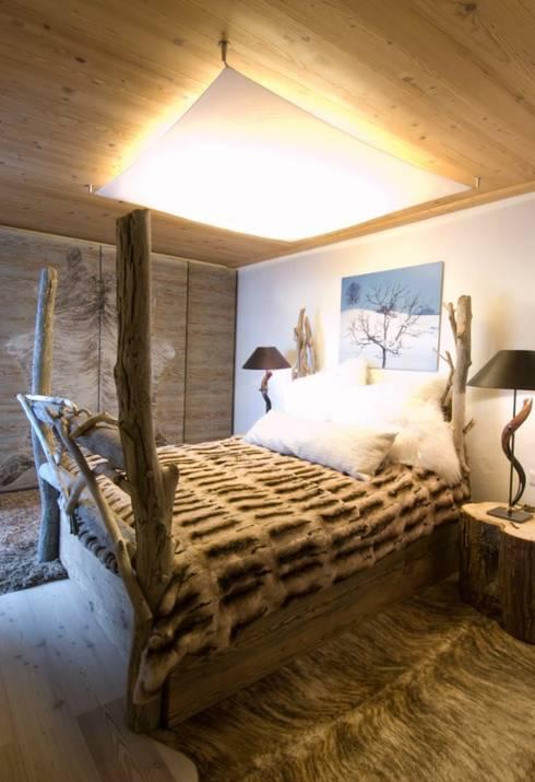 Projekty,  Sypialnia zaprojektowane przez Raumkonzepte Peter Buchberger