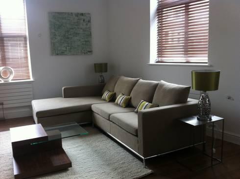 wigmore street london: modern Living room by jaimie k designs ltd