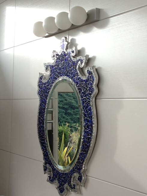 NEW ZEALAND MIRROR: Paredes y suelos de estilo  de Martin Brown Mosaics