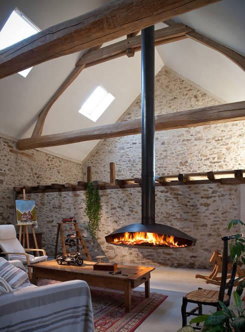 Antefocus Suspended Fire:  Living room by Diligence International Ltd