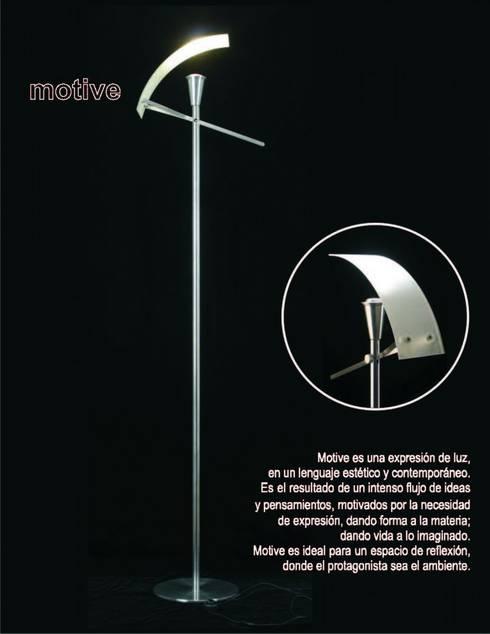 lampara Motive: Hogar de estilo  por Spazzio