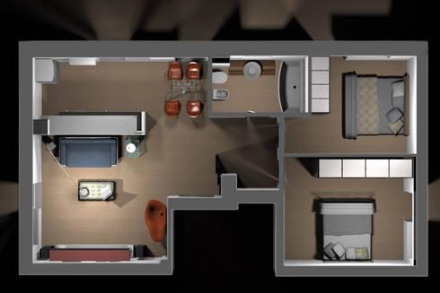 Appartamento privato – Roma:  in stile  di Marco D'Andrea Architettura Interior Design