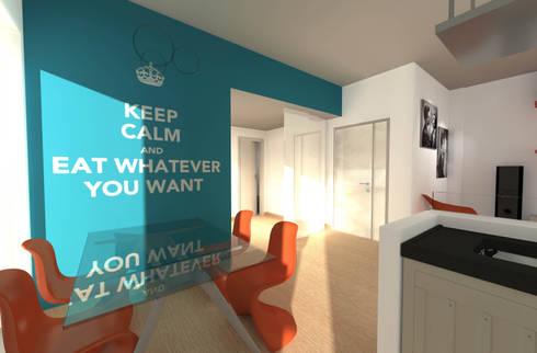 Appartamento privato - Roma: Soggiorno in stile in stile Eclettico di Marco D'Andrea Architettura Interior Design
