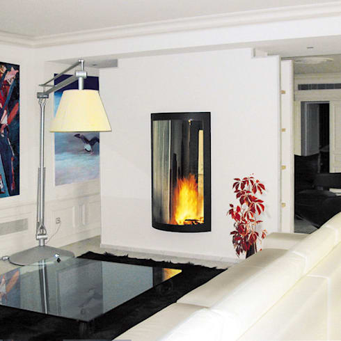 Pictofocus 1400 Double Fronted Fire: modern Living room by Diligence International Ltd