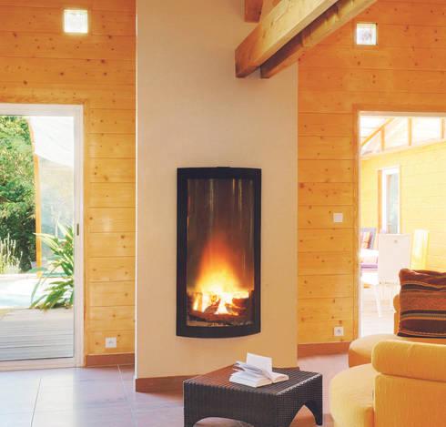 Pictofocus 86o Fire: modern Living room by Diligence International Ltd