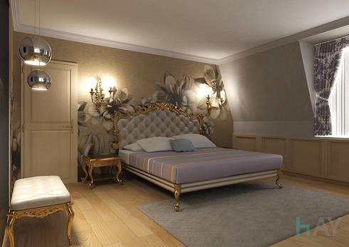 Interior Design in Montreux: Camera da letto in stile in stile Classico di HAY interiors