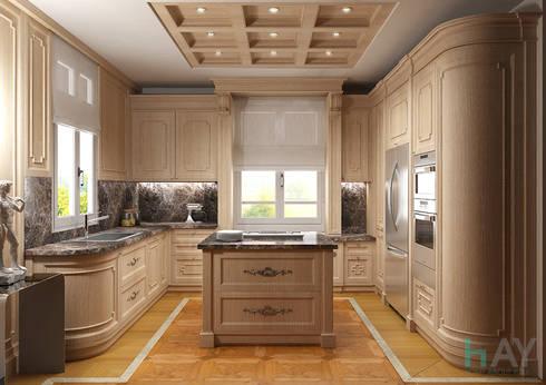 Interior Design in Montreux: Cucina in stile in stile Classico di HAY interiors
