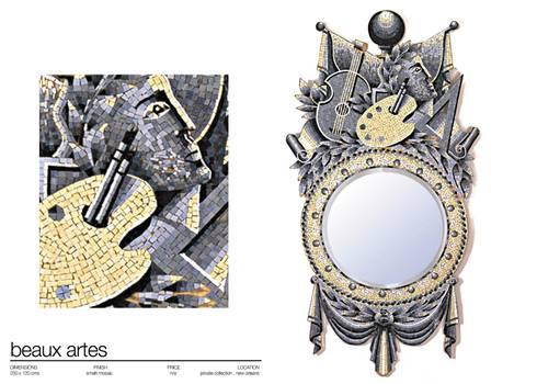 BAROQUE MIRRORS: Vestidores de estilo clásico de Martin Brown Mosaics