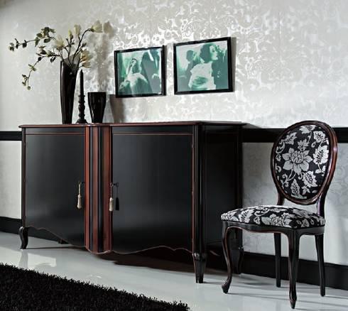 Fantástico aparador. : Salones de estilo clásico de MUMARQ ARQUITECTURA E INTERIORISMO
