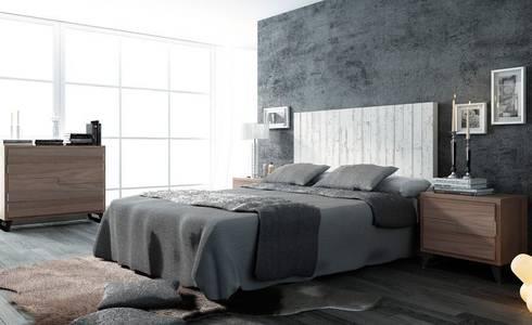 DORMITORIOS: Dormitorios de estilo rústico de Muebles Flores Torreblanca