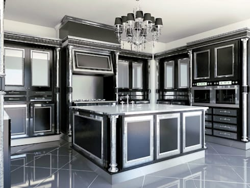 linea nera: Cucina in stile in stile Classico di elisalage