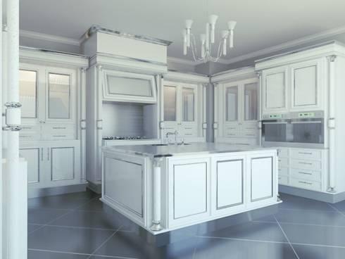 Linea white: Cucina in stile in stile Classico di elisalage