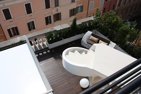 Shiny House: Terrazza in stile  di ADLsolutions