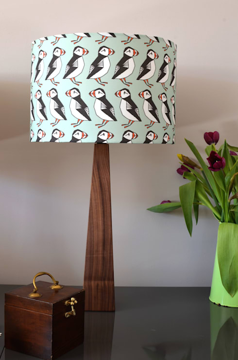 Puffins Table Lamp:  Living room by Hunkydory Home