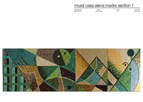 CASA SIERRA MADRE MEXICO : Paredes y suelos de estilo moderno de Martin Brown Mosaics