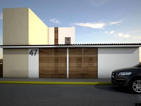 Casa X: Casas de estilo moderno por REA + m3 Taller de Arquitectura