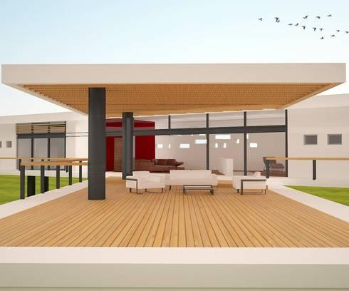 Terraza Valle bravo: Terrazas de estilo  por Arquitectura Libre