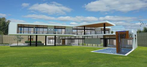 Fachada Sur: Casas de estilo moderno por Arquitectura Libre