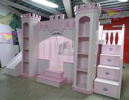 CASTILLO CON VELO: Habitaciones infantiles de estilo  por camas y literas infantiles kids world