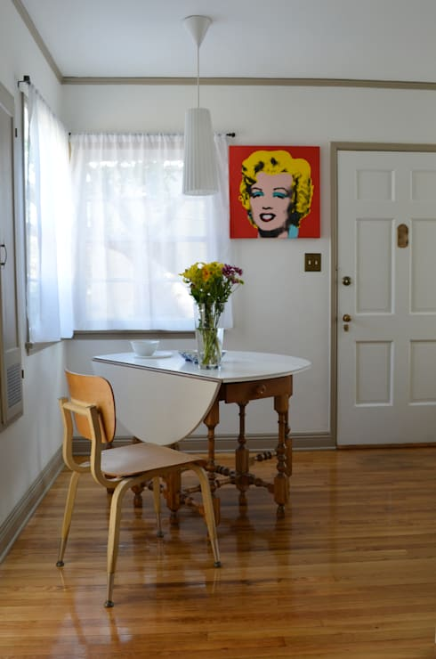 Sunnynook Decor, Los Angeles CA. 2012: Comedores de estilo  por Erika Winters® Design