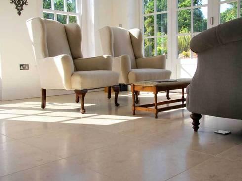 LIMESTONE FLOOR TILES:  Walls & flooring by DT Stone Ltd