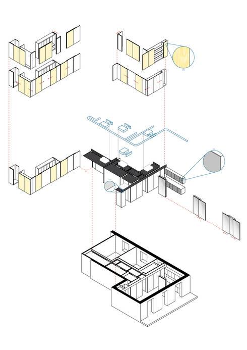 Casa SZP: Case in stile  di Arch. Nunzio Gabriele Sciveres