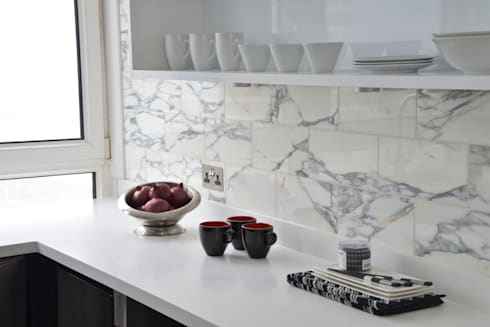 A Monochrome Kitchen - Minimal yet Practical: modern Kitchen by Cathy Phillips & Co