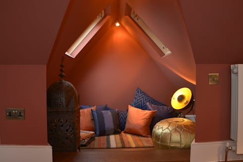 A Loft Conversion where New York meets Marrakech: eclectic Bedroom by Cathy Phillips & Co