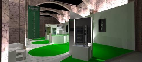 Rendering di progetto 01: Allestimenti fieristici in stile  di Studio Arch. Matteo Calvi
