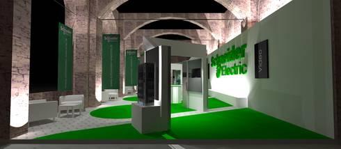 rendering di progetto 02: Allestimenti fieristici in stile  di Studio Arch. Matteo Calvi