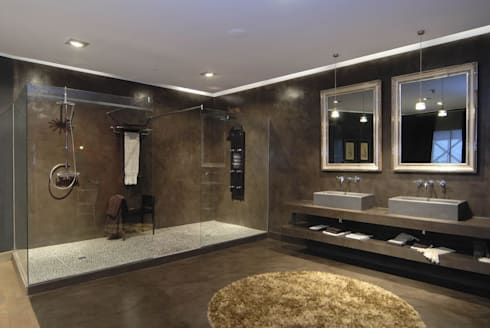 Water Lounge: Baños de estilo industrial de BARASONA Diseño y Comunicacion