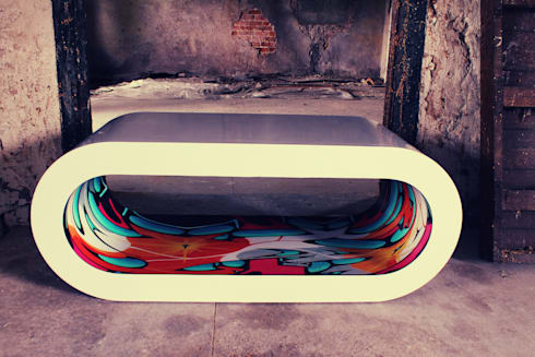 Hoop Graffiti Table : modern Living room by Zespoke Design