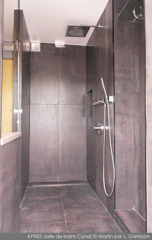 Salle de bains hôtel chic sur le Canal Saint Martin: Salle de bains de style  par La Decorruptible