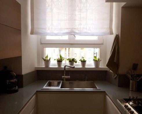 06. verso zona lavaggio: Cucina in stile in stile Moderno di Giussani Patrizia
