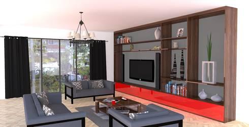 Wall Furniture: modern Living room by Piwko-Bespoke Fitted Furniture