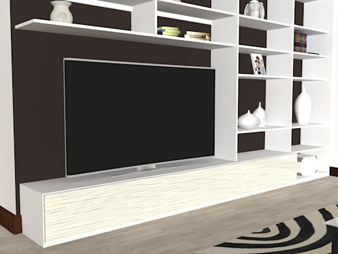 Wall Furniture, TV Entertainment Units: modern Living room by Piwko-Bespoke Fitted Furniture