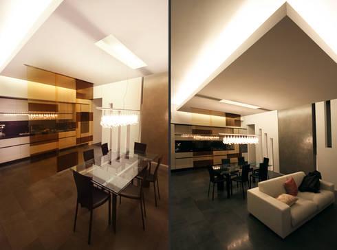 Private Flat APP_G_AL: Sala da pranzo in stile in stile Moderno di Diego Bortolato Architetto