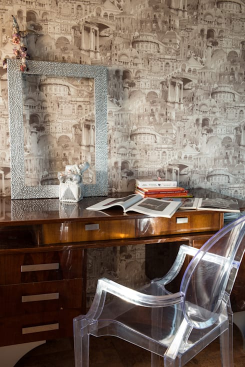 eclectic Study/office by homify