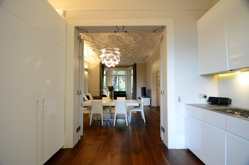 Belsize Park: colonial Dining room by Gregory Phillips Architects