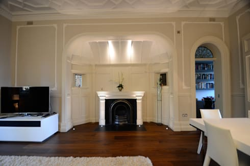 Belsize Park: colonial Living room by Gregory Phillips Architects