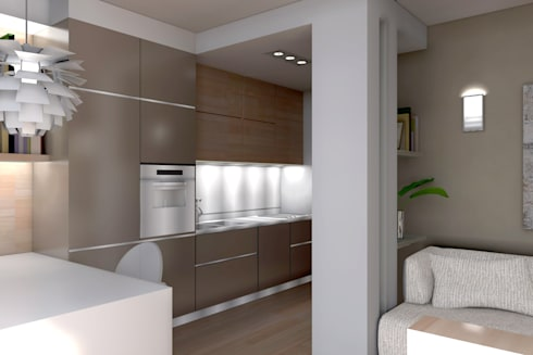 ambienti di qualità in piccoli spazi: Cucina in stile in stile Moderno di Giussani Patrizia
