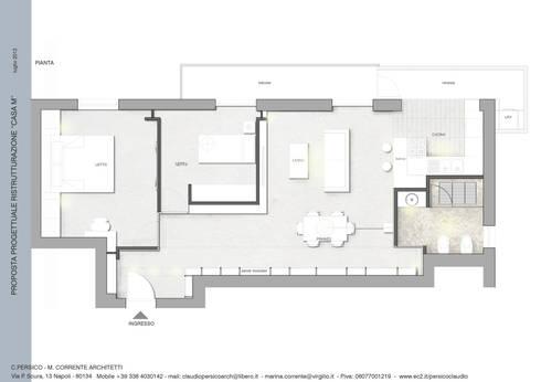 Casa M.: Case in stile in stile Moderno di studioLO architetti